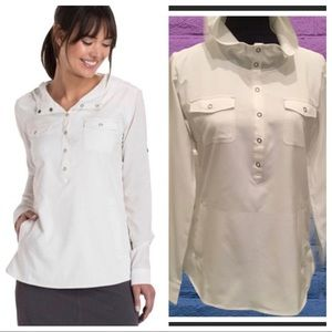 Kuhl white long sleeve hiking/adventure shirt